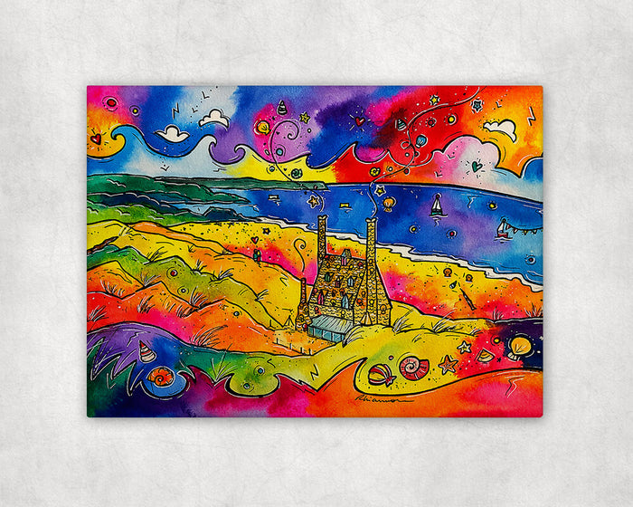 Magical Shell House Printed Canvas