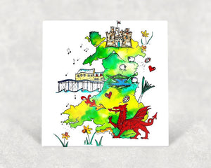 Map of Wales Card