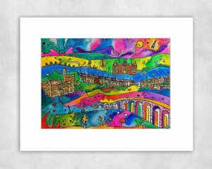 Merthyr Tydfil Magic Mounted Print
