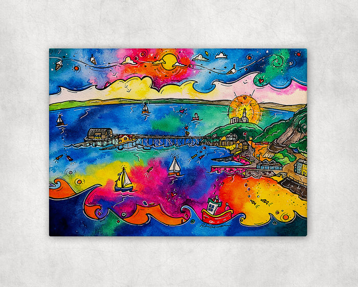 Mumbles Pier of Dreams Printed Canvas
