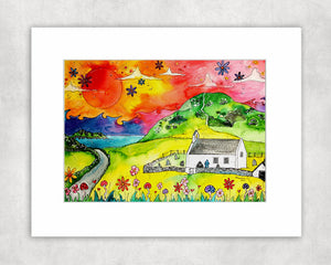 Mwnt Sunset Mounted Print
