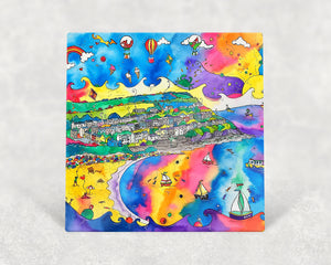 New Quay Lively Beach Card