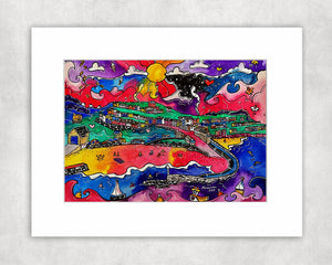 New Quay Paradise Mounted Print