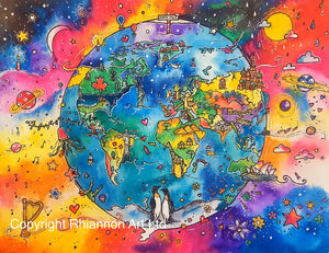 Our World Printed Canvas