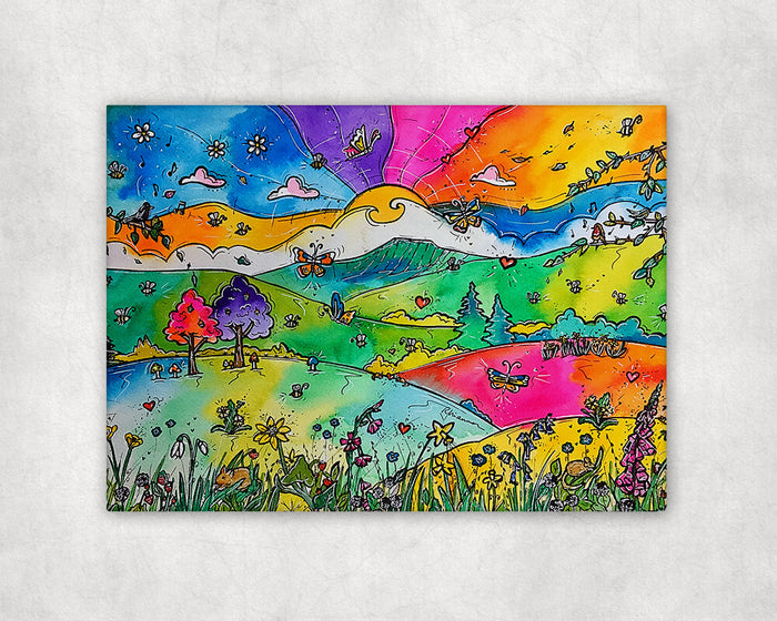 Pen y Fan Wild Flowers Printed Canvas