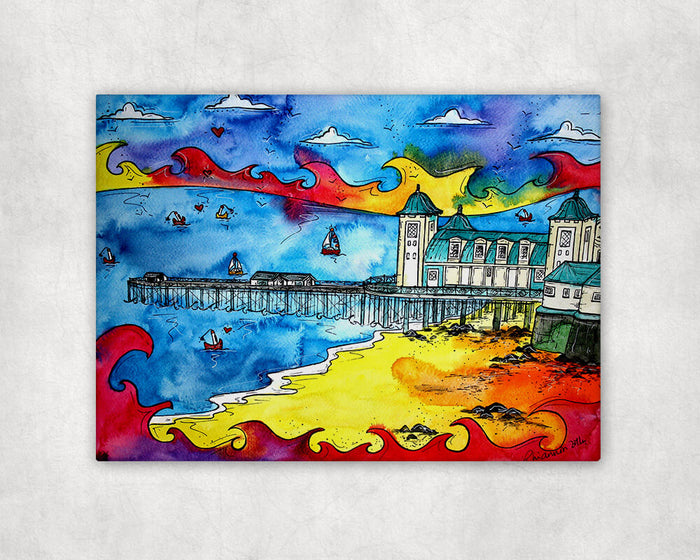 Penarth Golden Sand Printed Canvas