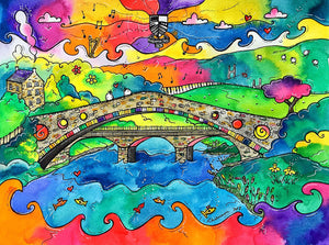 Pontypridd Bridge of Memories Printed Canvas