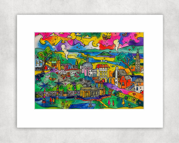 Portmeirion Inspirational Village Mounted Print