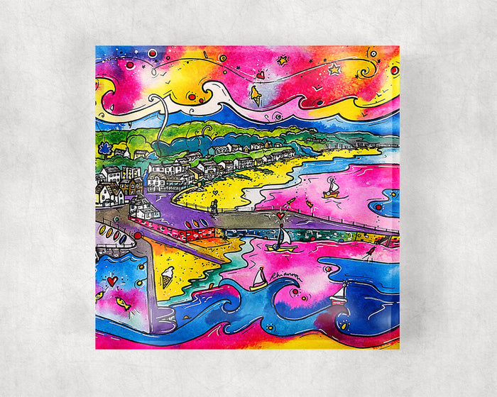Saundersfoot Dreamy Beach Glass Coaster