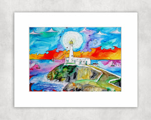 Southstack Beautiful Lighthouse Mounted Print