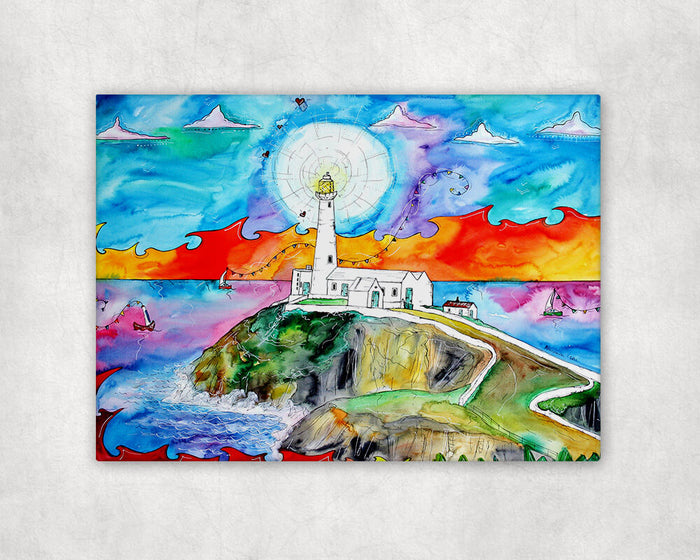 Southstack Beautiful Lighthouse Printed Canvas
