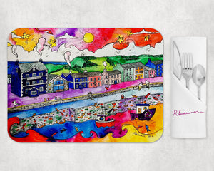 Aberaeron Summer Harbour Placemat