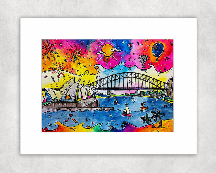 Sydney Celebrations Mounted Print