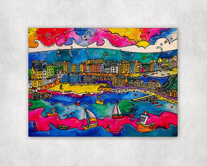 Tenby Colourful Memories Printed Canvas