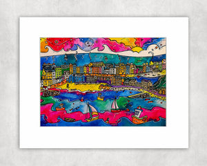 Tenby Colourful Memories Mounted Print