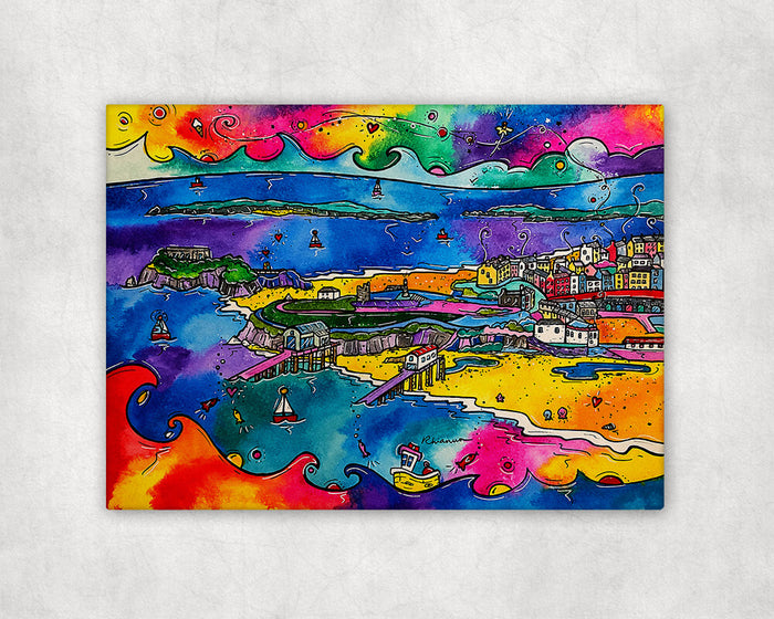 Tenby Beach of Dreams Printed Canvas