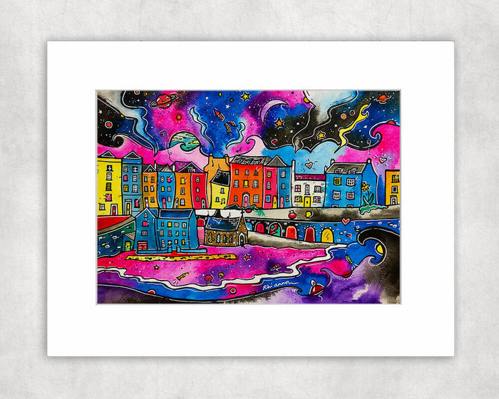 Tenby Midnight Dream Mounted Print