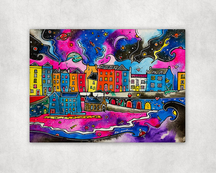 Tenby Midnight Dream Printed Canvas