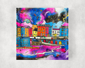 Tenby Midnight Dream Glass Coaster