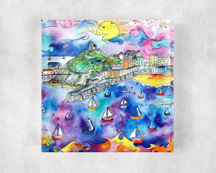 Tenby Purple Paradise Glass Coaster