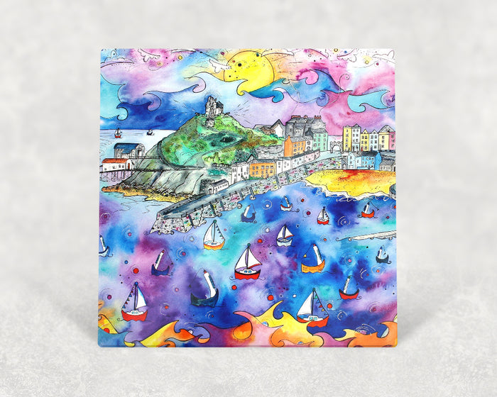 Tenby Purple Paradise Card