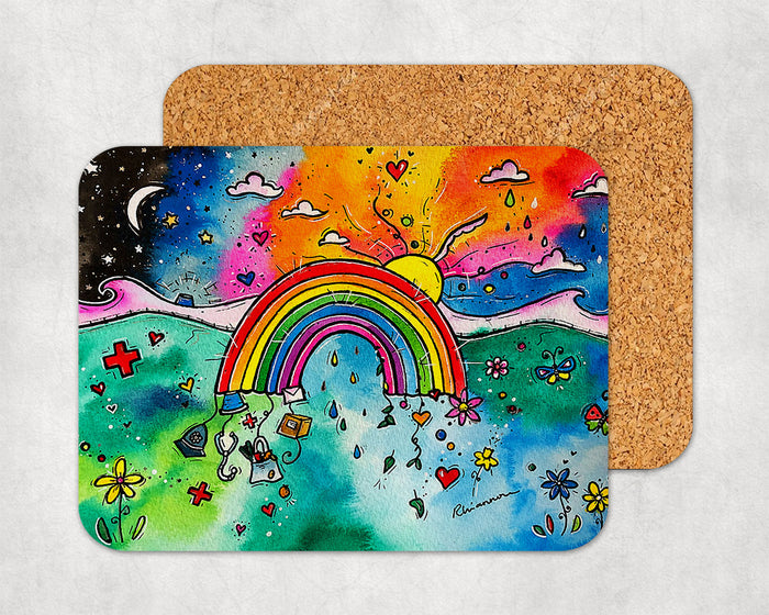 Thankful Rainbow Coaster