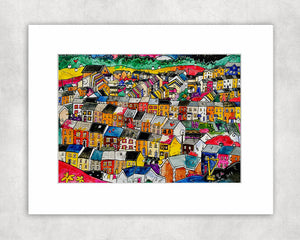 The Valleys Mounted Print