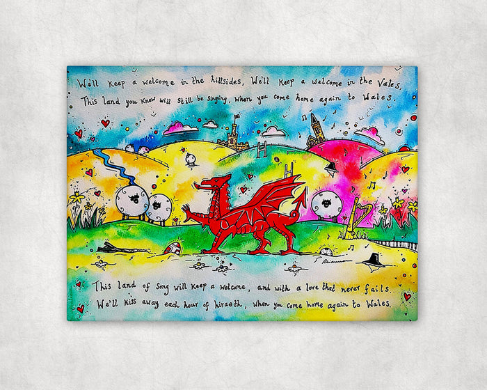 Colourful Hiraeth Printed Canvas