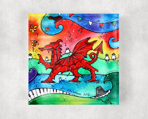 Welsh Dragon Glass Coaster
