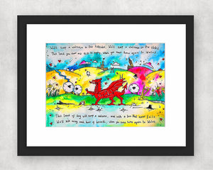 Colourful Hiraeth Original Watercolour Painting