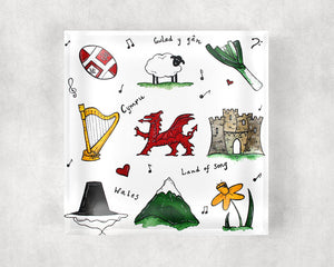 Welsh Treasures Glass Coaster