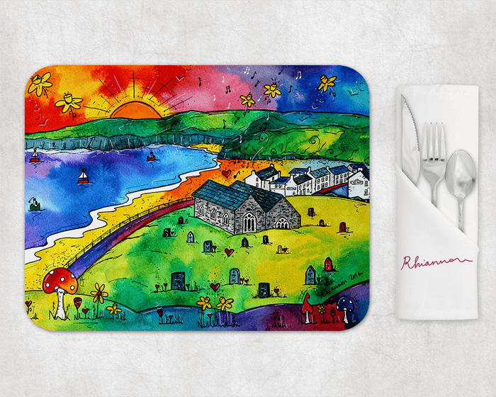 Aberdaron Peaceful Church Placemat