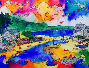 Abersoch Enchanting Harbour Mounted Print