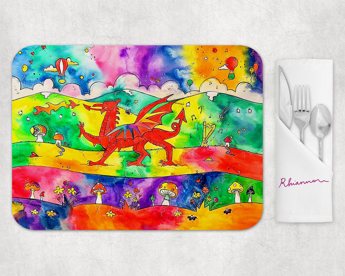 Our Colourful Welsh Dragon Placemat