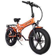 "Load image into Gallery viewer, Electric bike 48V12A Lithium Battery 20"" 4.0 fat Tire Snow e Bike Aluminum Folding 500W Powerful electric Bicycle Mountain ebike"