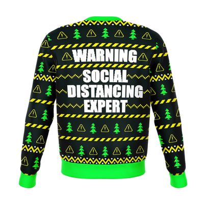 Social Distancing Expert Funny Ugly Christmas Sweater