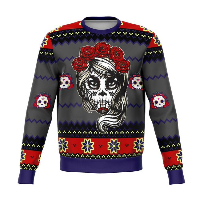 LADY DEAD DAY UGLY CHRISTMAS SWEATER - OnlyClout