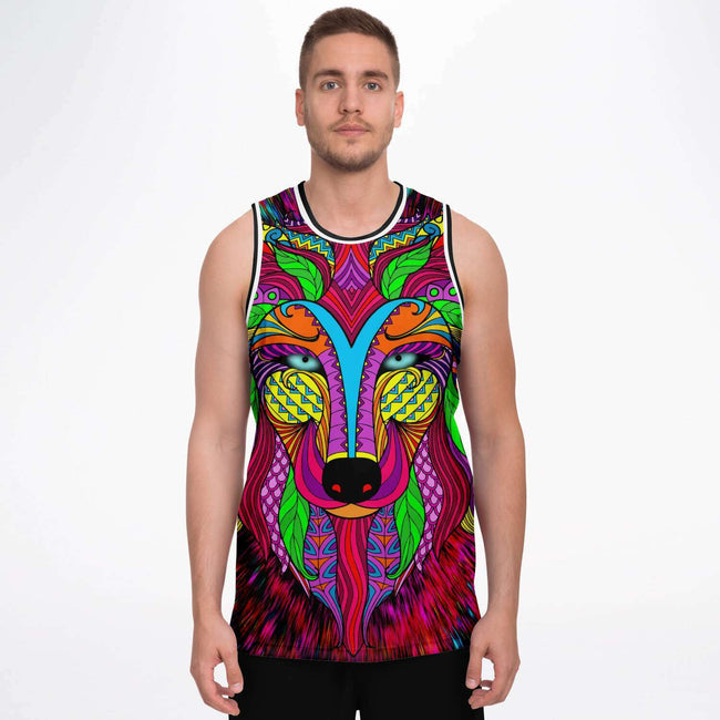 Lone Wolf Lights Basketball Jersey - OnlyClout