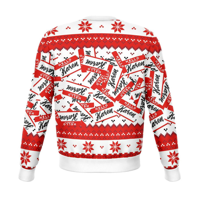 Hello My Name Is Karen Ugly Christmas Sweater - OnlyClout