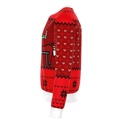 Alien And Santa Dildo Funny Ugly Sweater