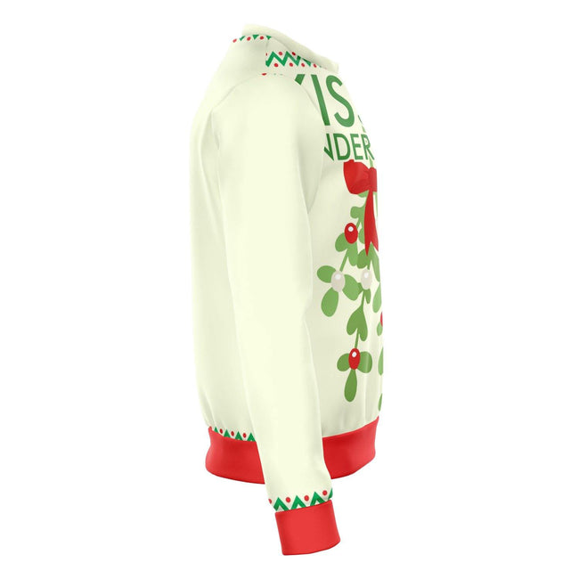 Kiss It under the mistletoe funny ugly Christmas sweater - OnlyClout