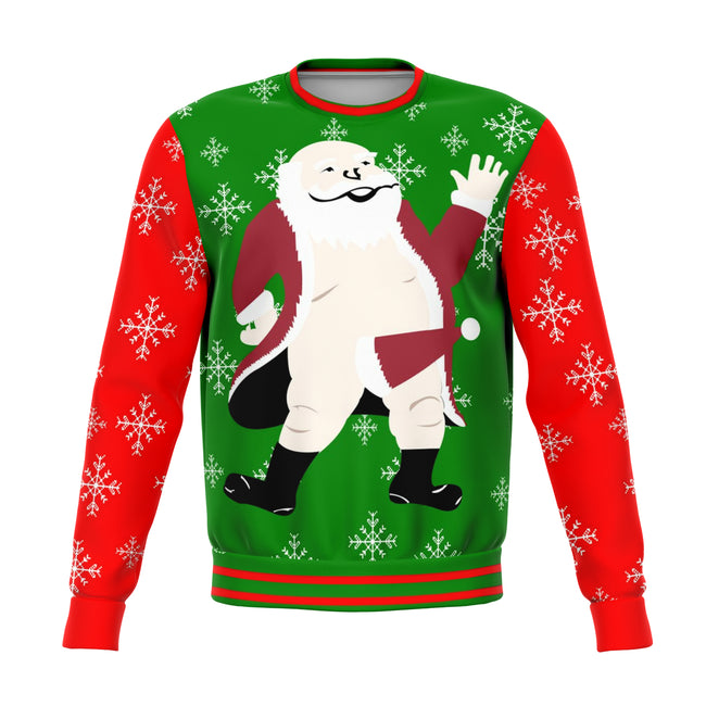 Santa Offensive Ugly Christmas Sweater - OnlyClout