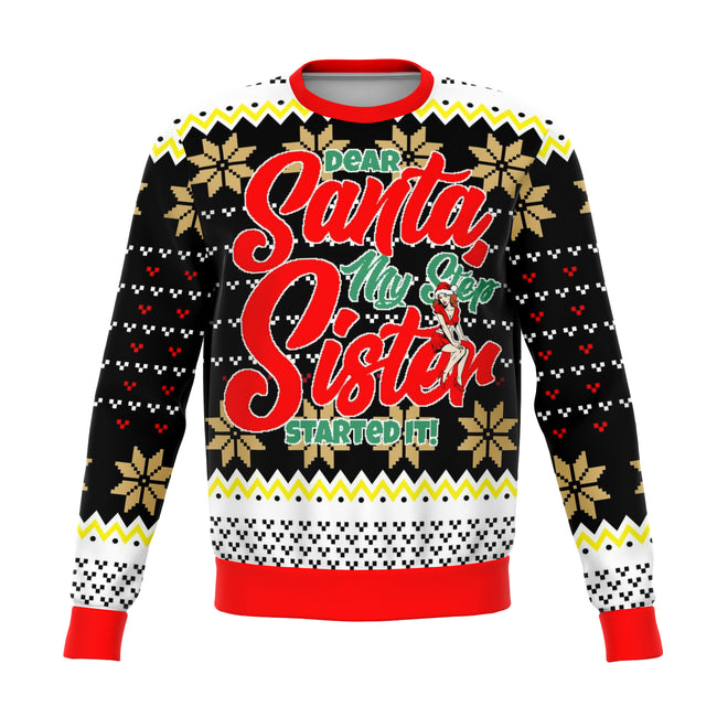 Step Sis Did It Ugly Christmas Sweater - OnlyClout