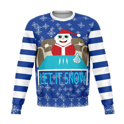 Let It Snow Offensive Ugly Christmas Sweater
