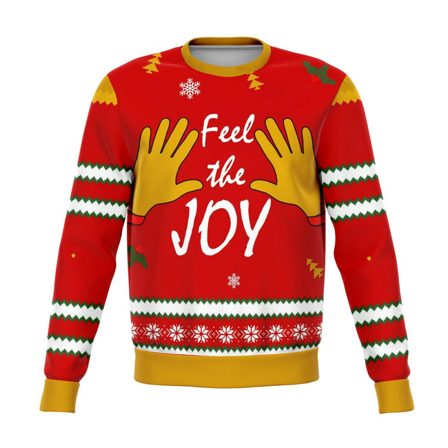 Feel The Joy Funny Ugly Christmas Sweater - OnlyClout