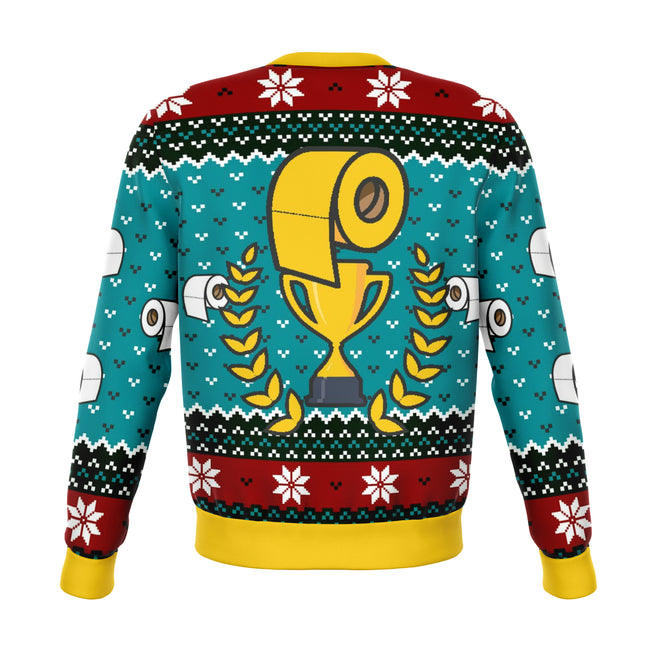 Survived Toilet Paper Apocalypse 2020 Ugly Christmas Sweater - OnlyClout