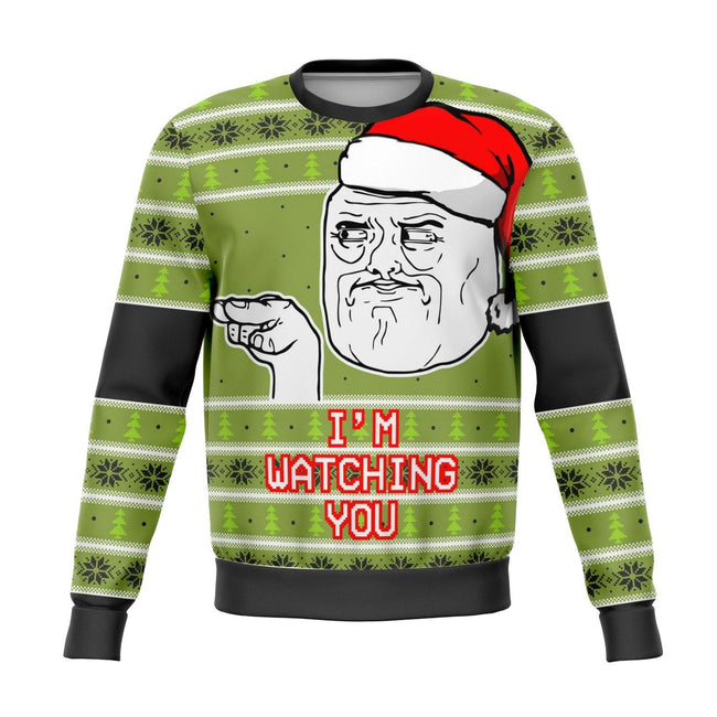 I'm Watching You Meme Ugly Christmas Sweater - OnlyClout