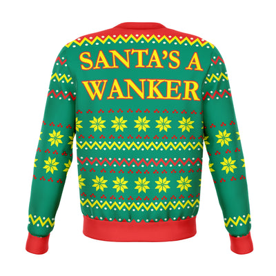 Santa's Wanker Offensive Ugly Christmas Sweater