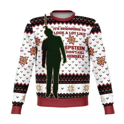 Epstein Didn't Ugly Christmas Sweater