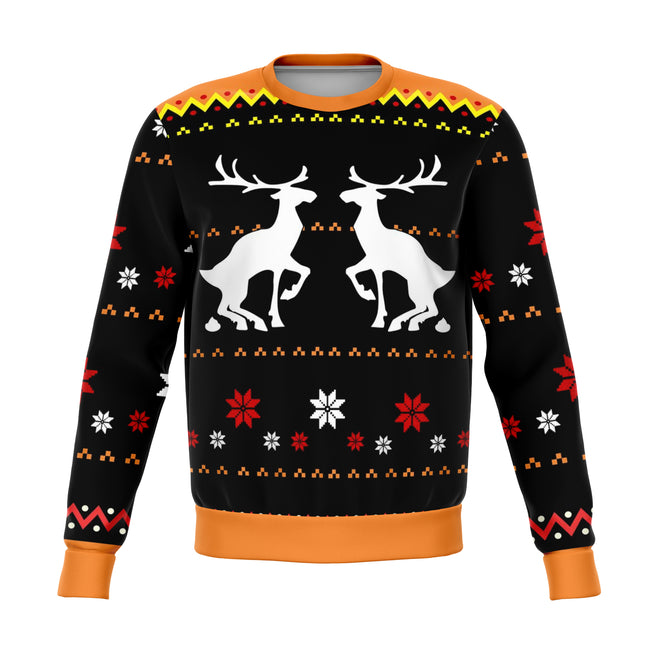 Reindeer Nature Call Funny Ugly Christmas Sweater - OnlyClout